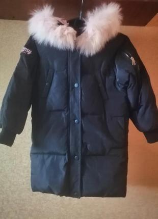 Куртка пуховик зима на девочку