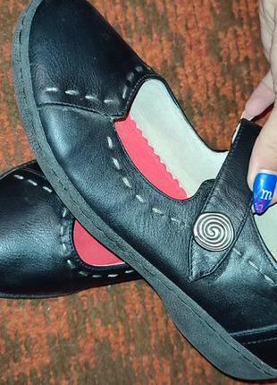 Женские туфли на липучке р.40 (25.5 см)