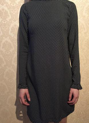Платье в горошек вискоза h&m