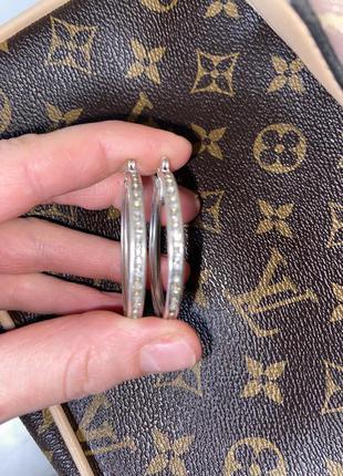 Серьги сережки серебро серебрянные камни цирконы кольца конго