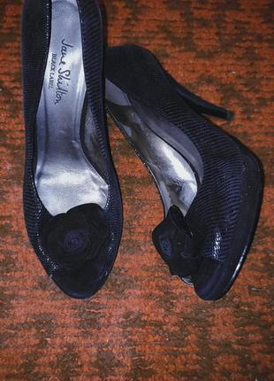 Туфли с открытым носком р.39 ( 25 см)