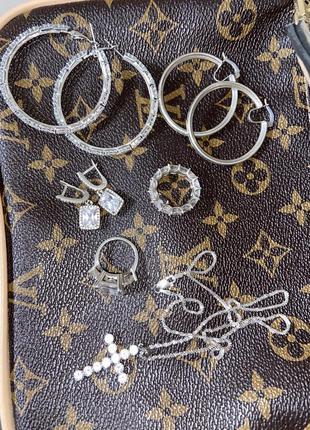Кольцо серебро камень циркон кубический большой дорожка серебряная