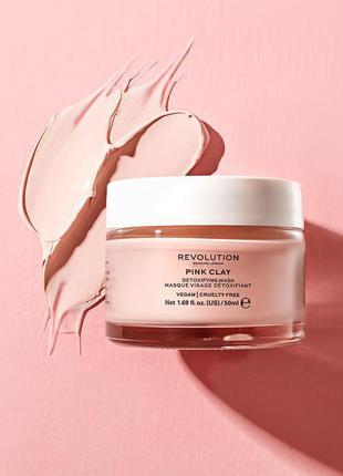 Маска детокс revolution pink clay с розовой глиной