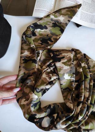 Шарф зелений / аксесуар на шию, сумку / шарфик