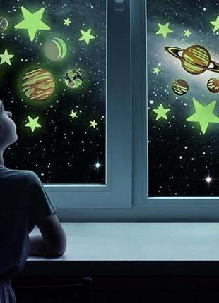 Набор светящихся наклеек 4m планеты и 20 звезд для вашего ребенка