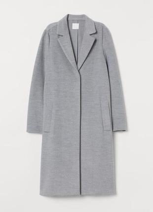 Серое демисезоное пальто бойфренд,тренч без подкладки h&m