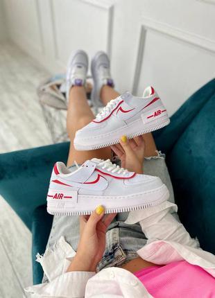 Nike air force шикарные кожаные женские кроссовки найк белые