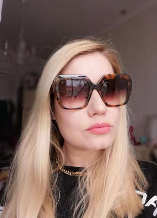 Эксклюзивные брендовые солнцезащитные женские очки 2021 в черепаховой оправе