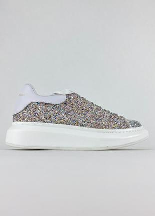 Кроссовки alexander mcqueen lace-up glitter-leather