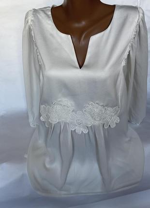 Шикарная воздушная блуза с широкими рукавами