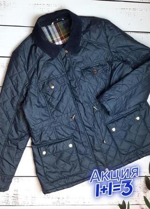 1+1=3 стильная темно-синяя стеганная куртка с карманами tu, размер 54 - 56