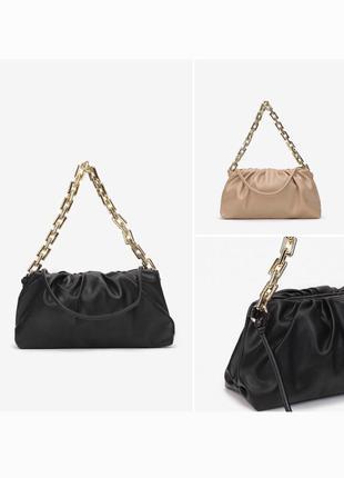 Чёрный и бежевый bottega veneta сумка на плечо chain pouch