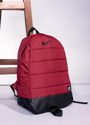 Жіночий червоний рюкзак nike / красный женский портфель найк