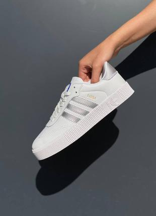Женские кеды adidas samba белые