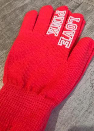 Повязка на голову и перчатки victoria's secret набор pink