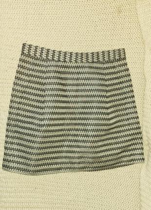 Bcbg max azria юбка букле с блескоиюм и карманами