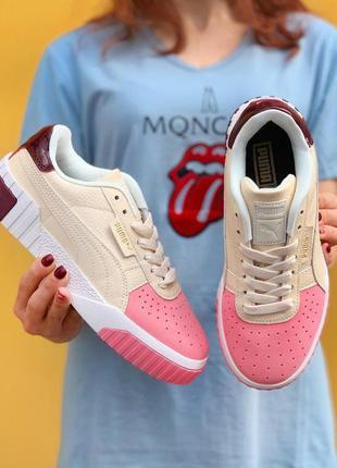 💲 кроссовки puma cali cream pink