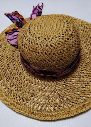 Шляпа соломенная, straw, 56 р. в отличном сост.!