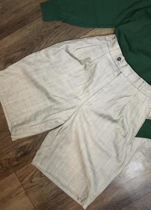 Шорты бермуды из брючной ткани шортики классические удлиненные
