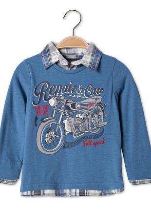 Хлопковый реглан-рубашка обманка c&a