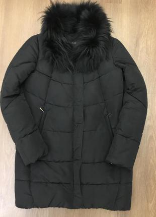 Куртка бочонок холлофайбер мех песец