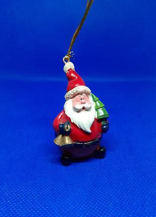 🎄☃️❄статуэтка дед мороз с елкой подвеска елочная игрушка новогодняя фигурка