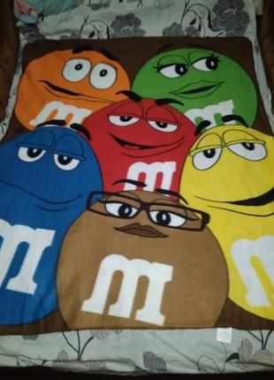 Плед,мини покрывало m&m's