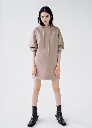 Платье тёплое спортивный стиль zara