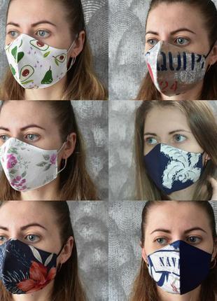 Многоразовая маска хлопок