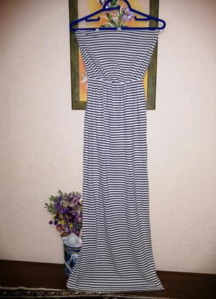 Платье в полоску длинное h&m basic