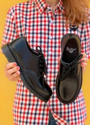 Женские туфли dr. martens 1461 mono black
