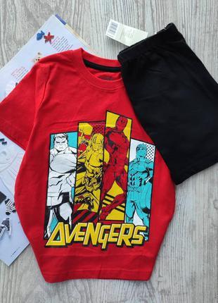 Комплект, футболка и шорты, пижама