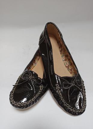 Мокасины лаковые anna field.брендове взуття stock