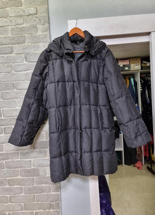 Пуховое итальянское пальто
