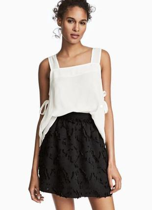 Чёрная красивая юбка h&m