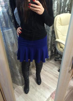 Синяя юбка bershka размер m