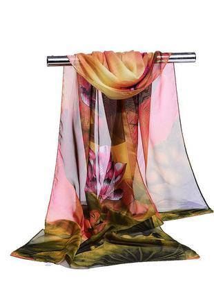 6 легкий шифоновый шарф