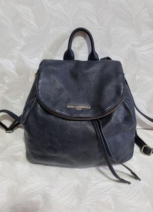 Кожаный рюкзак karl lagerfeld, оригинал
