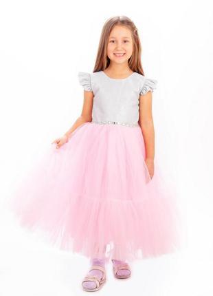 Платье с фатиновой юбкой, пышное платье