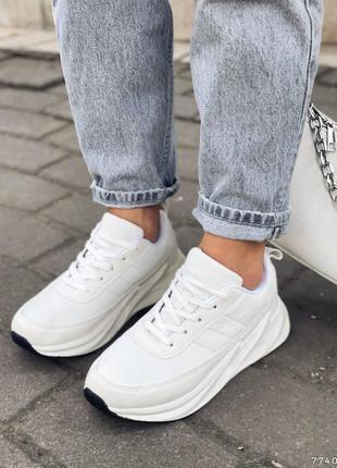 Рр 35-40.белые кроссовки кеды