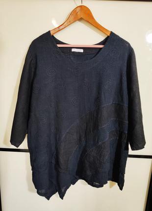 Absession италия свободная льняная блуза