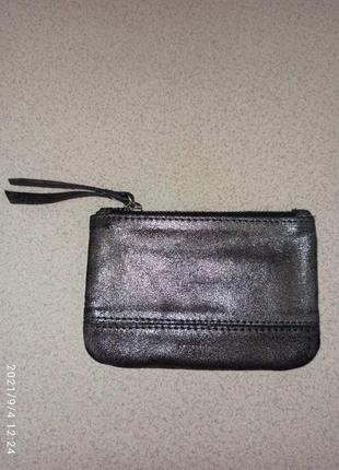 Кошелёк accessories натуральная кожа с напылением в идеальном состоянии. цена 160