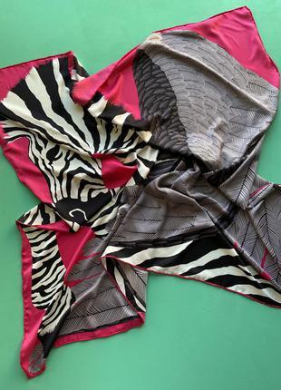 Шелковый большой платок