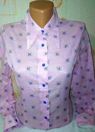 Итальянская стильная рубашка/ блуза lady o.b.c. made italy,оригинал, молниеносная отправка