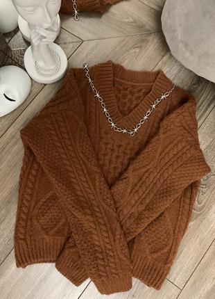 Тёплый свитер zpb
