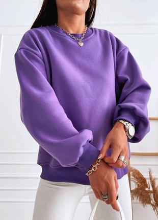 Невероятная фиолетовая толстовка с вырезом на спинке