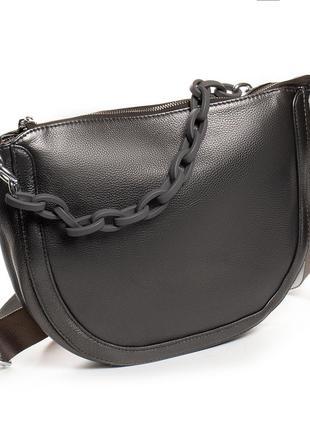 Женская кожаная сумочка изготовлена из натуральной мягкой кожи