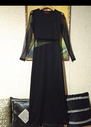 Очень шикарное женстввенное платье вставки и рукав сетка