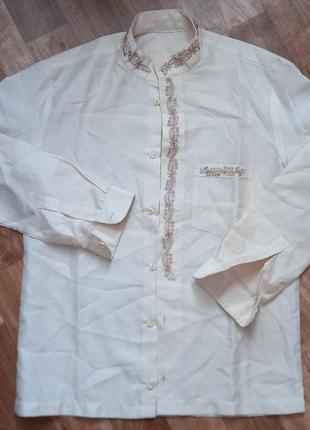Шикарная рубашка вышиванка с орнаментом