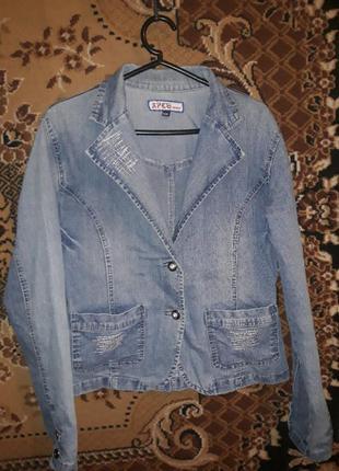 Джинсовая куртка-пиджак